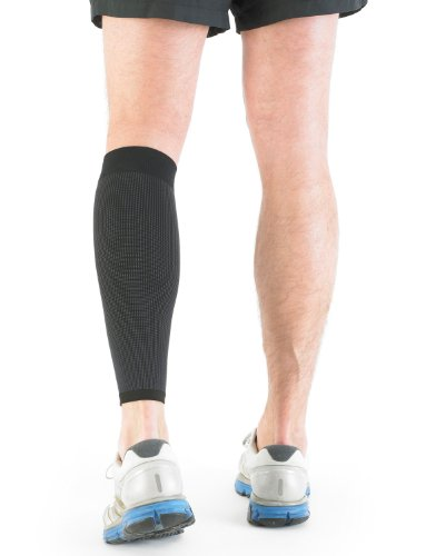 NEO G Airflow Calf/Shin Support - SMALL - Black - Medical Grade Quality sleeve, Multi Zone Compression, lightweight, breathable, HELPS strains, sprains, injured, weak calves/shins - Unisex Brace by Neo-G (Image #2)