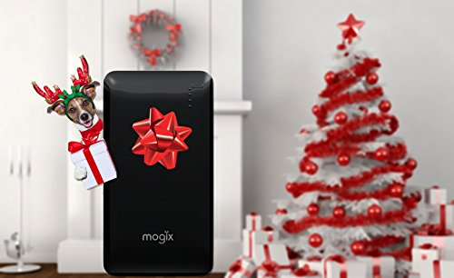 Mogix External Battery Phone Charger 10400mAh Power Pack - Best Bank For Fast Charging 2 USB Ports (Black)