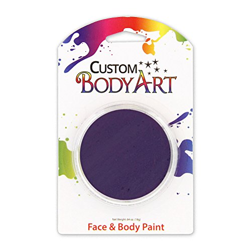 Custom Body Art LARGE 18ml Face Paint Color Single Colors 1-each (Dark Purple) - Great for Parties, Halloween & Birthdays