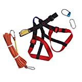 Baosity Climbing Harness Safe Seat Belt for Fire Rescue Caving Rock Climbing Rappelling Equipment Half Body Guard Protect