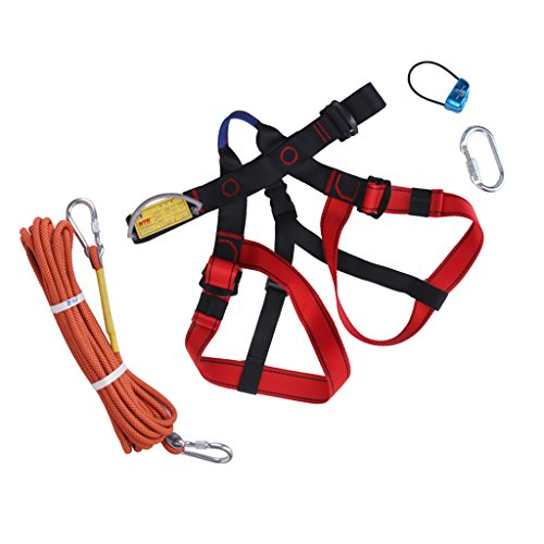 Baosity Climbing Harness Safe Seat Belt for Fire Rescue Caving Rock Climbing Rappelling Equipment Half Body Guard Protect by Baosity