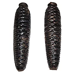 Pair of Vintage Black Forest Cuckoo Clock Weights Cast Iron Pinecone Shaped 5 / 15 oz.