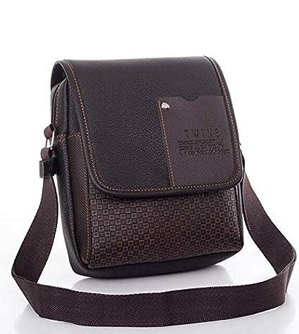 Image Unavailable. Image not available for. Color  2018 Vintage Men s Bag  Shoulder Crossbody Bags for Men Messenger Leather Pu Plaid ... f302aa7797c4a