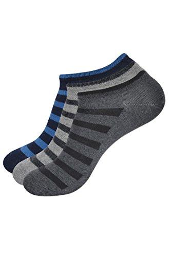 Balenzia Men's Pack of 3 Low Cut Socks  Assorted