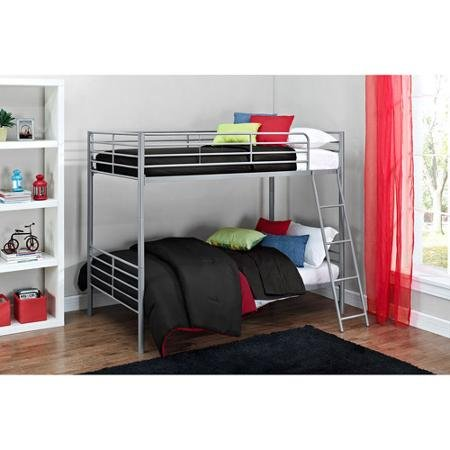 Mainstays Twin over Twin Convertible Bunk Bed (Silver)