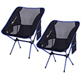 MOON LENCE Outdoor Ultralight Portable Folding Chairs with Carry Bag Heavy Duty 242lbs Capacity Camping Folding Chairs Beach Chairs: more info