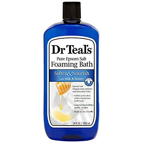 (Dr. Teal's Foaming Milk Bath with Milk and Honey, 34 Fluid Ounce, (Pack of 2))