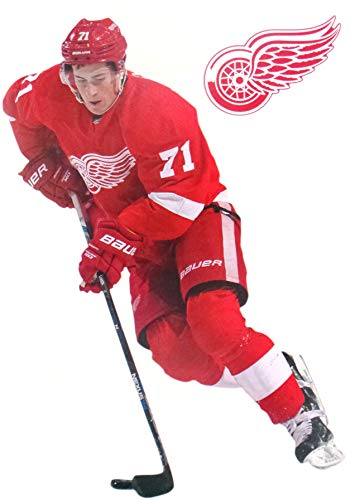 (FATHEAD Dylan Larkin Mini Graphic + Detroit Red Wings Logo Official NHL Viny Wall Graphics 7