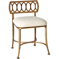 Vanity Stool in Gold Bronze Finish