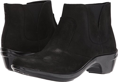Aravon Women's Kitt Ankle Bootie, Black Leathe, 10 B US