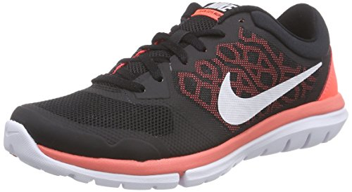 NikeFlex Run 2015 - Zapatillas de Entrenamiento Mujer Negro (Black / White-Hot Lava)