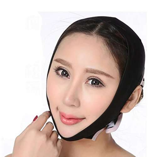 Brendacosmetic Portable Face-Lift Face Thin Mask Thin Chin Correction Tool for Women,Half Face Slimming Cheek Mask Face Line Slim up Belt Strap for Face - Face How To Structure Perfect Get