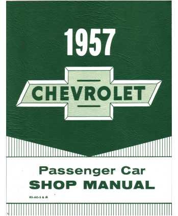 1957 Chevrolet Chevy Car Shop Service Repair Manual 57 (with Decal) ()