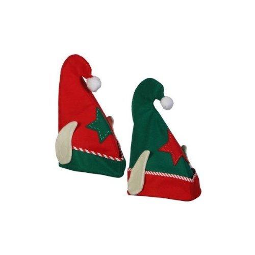 13 3//4 Random Red or Green 13 3//4 Random Red or Green Greenbrier SG/_B009XBIK5Y/_US Felt Elf Hat with Ears