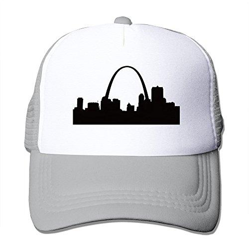 St. Louis Skyline Silhouette Mesh Adjustable Hats Ash (Cap Trukfit)