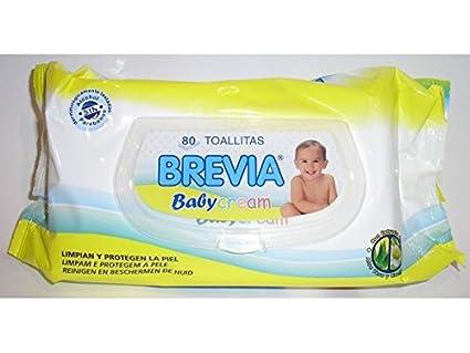 Toallita Bebe 80 Unidades Brevia Con Tapa