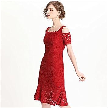 buy popular f8ff8 770e6 JIALELE Abito Rosso Donna,Abito Paillettes Donna Abito in ...