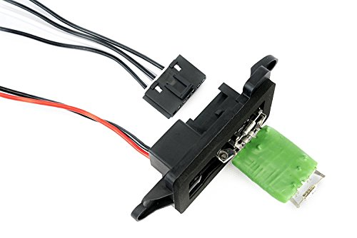 Starter Motor Relay Connector - AC Blower Motor Resistor Kit with Harness - Replaces 89019088, 973-405, 15-81086, 22807123 Fits Chevy Silverado, Tahoe, Suburban, Avalanche, GMC Sierra, Yukon, Cadillac Escalade HVAC Fan Blower Motor