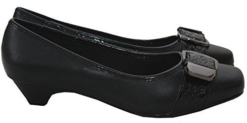Comfort Plus  Santorino,  Mädchen Damen Pumps Schwarz