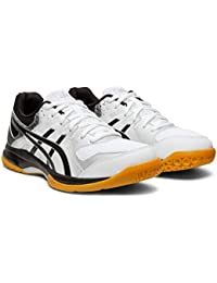 Gel-Rocket 9 Womens Volleyball Shoes, White/Black, 5 M US