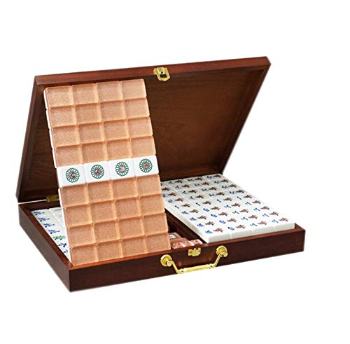 (HU Crystal Acrylic Mahjong Home Travel Portable Horse Brand Personality Gift Leisure Entertainment Toys 3.1×2.3×4.0cm)