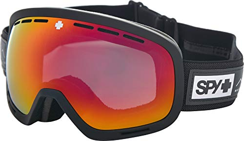 Spy Optic Unisex Marshall Asian Fit Essential Black Happy Gray Green W/Red Spectra+Happy Yellow One Size (Spy Optic Marshall Goggles Lens)