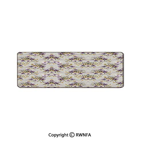 Flowers Summer Blossoms Bouquet On Animal Skin Floral Pattern Background Waterproof Coated Mouse pad,(15.7