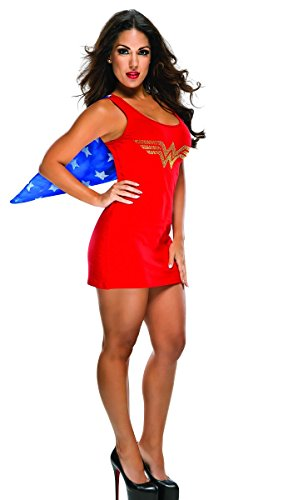 [Super Hero Tank Dress (Medium, Wonder Woman)] (Womens Tank Dress Wonder Woman Costumes)