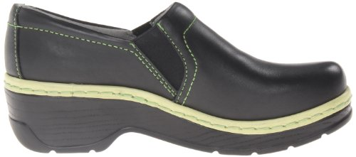 Klogs Usa Kvinna Naples Mule Svart / Lime