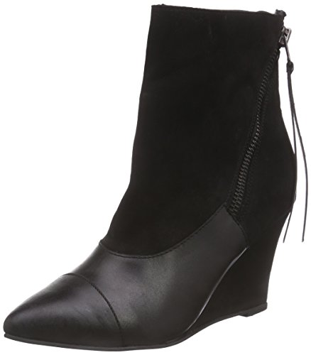 Mujer de Negro negro bajo Black botas black LilyMila caño Wedges wxAAI0gqB