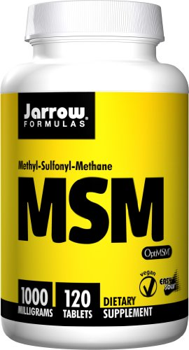 Msm 1000 Mg 120 Tablets - Jarrow Formulas, MSM, Joint Bone and Beauty Support, 1000mg, 120 Tablets
