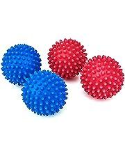 4 Stuks Wasdroger Ballen Drogen Stof ontharder Ballen Wassen Ballen Herbruikbare Droger Wasserij Ballen voor Wasdroger Kubussen voor Non-Smelt Nieuwe Zachter Materiaal Blauw Roze