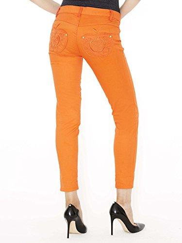 Apple Bottoms Girl's Jeans- Orange - 3/4