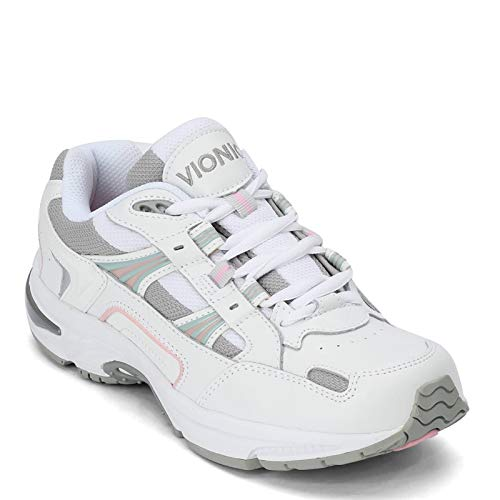Vionic Women's Walker Classic Shoes, 5 B(M) US, White / Pink