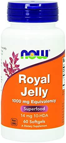 Now Royal Jelly 1000mg, 60 Softgels