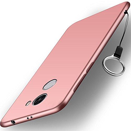 Xiaomi Redmi 4 Pro Funda + Acollador, Flexible Suave Silicona Gel Carcasa, Ultra Delgado y Ligero Protectora Completa TPU Goma Caso, Anti-Arañazos Anti-Huellas Dactilares Caja - Azul Rosa Oro