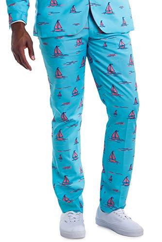 Men's Sunset Sail Suit Pants - Sailboat Suit Pants for Guys