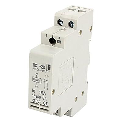Smart Meter HC1-20 Double Pole Electric Power AC Contactor Block 220V/240V Coil Volt 16A