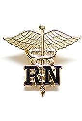 Rn Registered Nurse Emblem Pin Caduceus