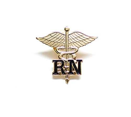 Rn Registered Nurse Emblem Pin Caduceus (1 Pin)