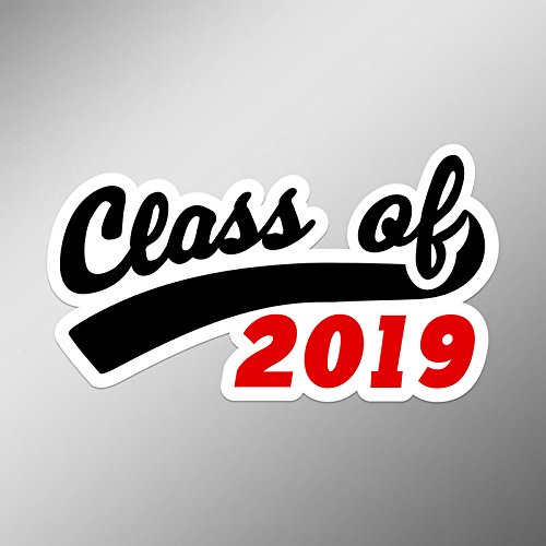 CMI PD220 2-Pack The Class Of 2019 Ribbon Decal Sticker | 5.3-Inch By 3-Inch | Premium Quality Vinyl Decal Sticker