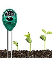Bihuo Soil Test Kit, 3 in 1 Plant Moisture Meter PH and Light Tester Outdoor Gardening Tools Hygrometer Gauge Water Sensor for Home Garden Lawn Farm (No Battery Needed)