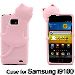 ModernGut DER Diffie cat series top quality silicon case for Samsung galaxy s2 ,cute mobilephone case for Samsung 90