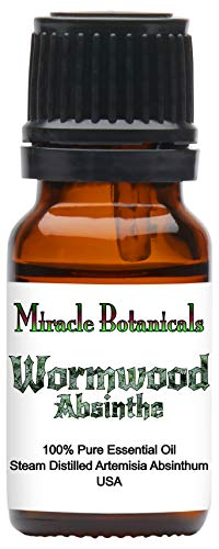 Miracle Botanicals Wormwood (Absinthe) Essential Oil - 100% Pure Artemisia Absinthium - 10ml or 30ml Sizes - Therapeutic Grade - 10ml ()