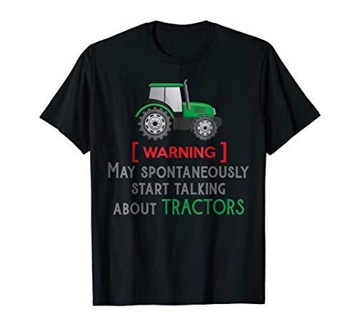 Funny slogan and green tractor, farmer loves farming t-shirt ()