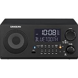 Sangean WR-22BK AM/FM-RDS/Bluetooth/USB Table-Top Digital Tuning Receiver (Black)