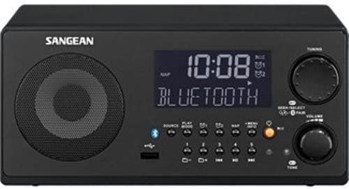 Sangean WR-22BK AM/FM-RDS/Bluetooth/USB Table-Top Digital Tuning Receiver (Black)