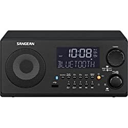 Sangean Wr-22bk Amfm-rdsbluetoothusb Table-top Digital Tuning Receiver (Black)