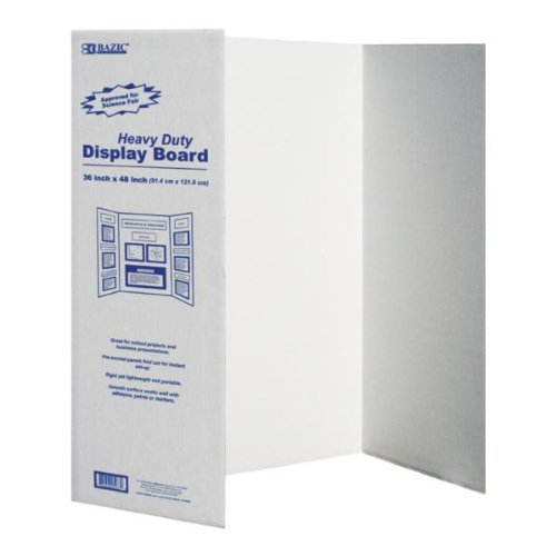36'' x 48'' Tri-Fold Corrugated Presentation Board 24 pcs sku# 316599MA by Bazic