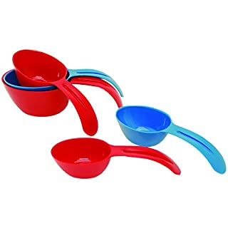 Starfrit Measuring Cups, Blue/Red